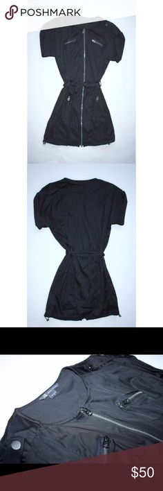 Armani Exchange utility dress Black utility dress by Armani Exchange featuring a full zip front and zipper detailing. Never been worn! Armani Exchange Dresses