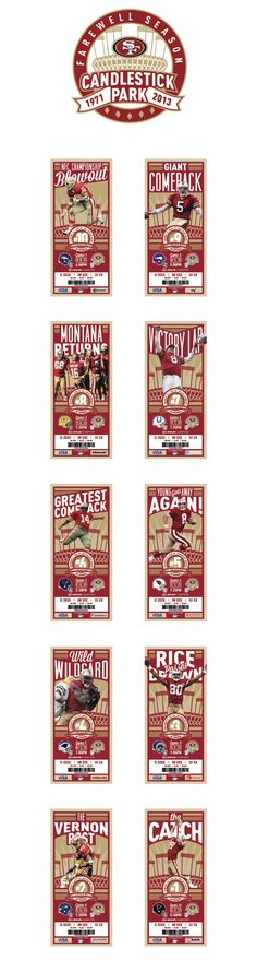 Farewell Candlestick Park – Season Ticket Design + Logo by Benjamin Mayberry, via Behance