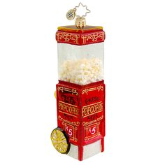"Christopher Radko Popcorn Ornament - ""Popped to Perfection"""