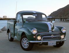 1957 Morris Minor 1000 Pickup, truck, wheels, oldsmobile, vehicle, transportation, curves, photography, photo.