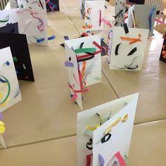 Laboratori Metodo Bruno Munari® e non solo...: SU TUTTA LA LINEA Drawing For Kids, Art For Kids, Crafts For Kids, School Fun, Art School, Kindergarten Art Projects, Herve, Collages, Star Wars Party