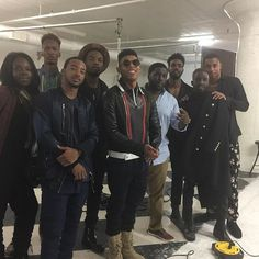 """#cr8td2 #model/photographer @xavn_themoor and C2 Photographer/cinematographer @bdaileyphotography on set and working with the cast @yazzthegreatest @wolfjames @oneelijahkelley @itsalgee @keithpowers @woody_thegreat of B.E.T. """"New Edition"""" Movie for @heedmagazine this week! We are very proud of these two gentleman! #cr8td2management #agency #connected #global #videographer #cinematography #heedmagazine #losangeles #neweditionmovie #newedition"""