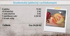 Recepty Ládi Hrušky - Studentský jablečný rychlokompot