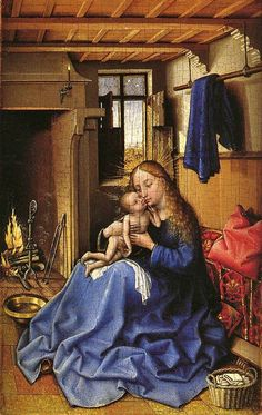 ROBERT CAMPIN (1375 - 1444) | Virgin and Child in an Interior - National Gallery,London