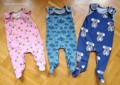 BLOG POST: Re FREE pattern by Yva R. Strampler for babies in sizes 50-68 (NB to 6-9m),.