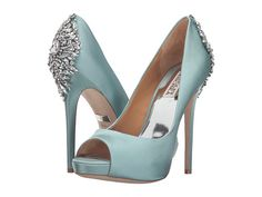 Badgley Mischka Kiara- I love this as SOMETHING BLUE! I just can't stop being in love with this shoe...the blush is to die for as well...almost want to order it just to see it on and then return it :)