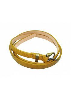 Brown Belt, Brown Skinny Belts, Buy Brown Belt: Simple Brown Skinny Belt