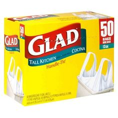 $40 Glad Handle Tie Tall Kitchen Bags, White, 13 Gallon, 50-Count Bags, (Pack of 4) by Glad, http://www.amazon.com/dp/B000EG4SY4/ref=cm_sw_r_pi_dp_LmW7qb0WEST6E