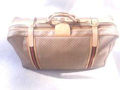 Vintage Gucci Travel Suitcase, GG Monogram Canvas, Large #Gucci  US $575.00