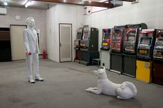 """Nakanojo Biennale the emperor Hirohito and the dog Hachiko two """"icons"""" of showa period are meeting in an old game center. Showa Period, Hachiko, Mind Games, Historical Images, Conceptual Art, Japanese Culture, Pop Art, Brain Games, Concept Art"""