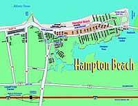 Hampton Beach NH parking lot map New England Coast Vacation