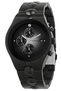 Fossil FS4157 Men's Black IP Stainless Steel Band Black Dial Chronograph Watch