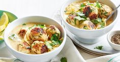 Warm up this winter with this 'soup'er Greek-inspired chicken meatball and lemon soup.