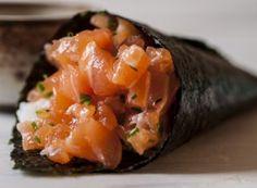 Receita Dedo de Moça: Temaki de salmão
