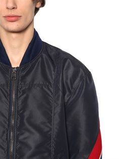 FACETASM - BOMBER IN NYLON - NAVY