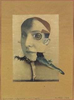 Hannah Höch, Russian Dancer/My Double, 1928  Photomontage, 12 x 8 7/8 inches  Herzog Anton Ulrich-Museum, Brunswick, Germany)