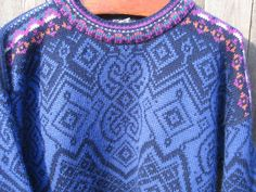 Vintage Dale of Norway Ski Sweater by jenEembroidery on Etsy, $97.00