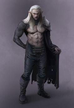 Elven Vampire, Darren Benton on ArtStation at https://www.artstation.com/artwork/elven-vampire
