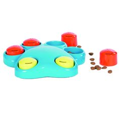 Outward Hound Kyjen 41004 Paw Hide Treat Toy Dog Toys Scent Puzzle Training Toy, Large, Blue