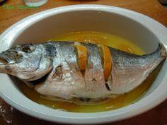 Recetas – Dorada al limon al microondas Carne, Microwave, Fish, Meat, Cooking, Sliced Potatoes, Oil, Parsley, Healthy Food