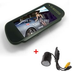 """Car Camera  + 7"""" inch  16:9 Car Rearview Wide Screen TFT LCD Monitor  7inch #CA1791+2121"""