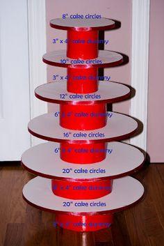 DIY Cupcake Stand ~ karen's cookies cakes & more
