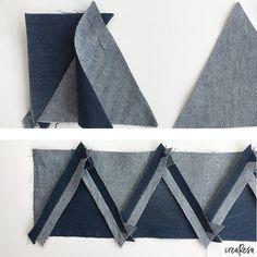Dreiecksborte nähen