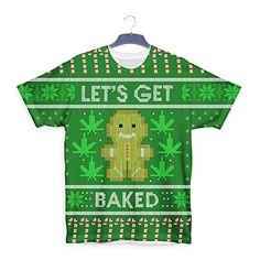 Lets Get Baked Gingerbread Marijuana Ganga Christmas T shirt
