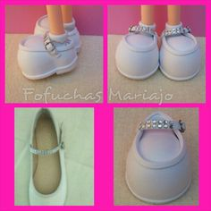 ZAPATOS DE COMUNION, PARA FOFUCHAS Foam Crafts, Diy And Crafts, Mary Janes, Polymer Clay, Baby Shoes, Flats, Sneakers, Clothes, Fashion