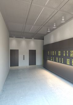 Entrance area in BIG apartment of Architectural Pursuer in Taipei, Taiwan, with interior design by PHILIPP MAINZER. #elevator #mailboxes