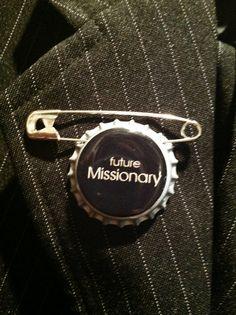 Future Missionary BOTTLECAP PIN