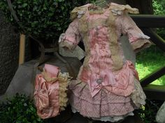 $579.00 ~~~ Pretty Pink French Bebe Summer Costume with Bonnet ~~~