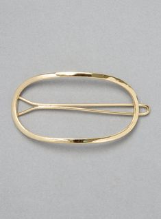 Oval Brass Hairclip