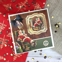 Card created using Hunkydory Crafts' 'Twas the Night Before Christmas Craft Stack