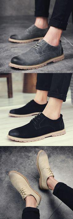 High Quality Wingtip Suede Anti Slip Men Casual Shoes Italian Shoes Man Flats Shoes Lace-Up Oxford Moccasins Plus Size Shoe
