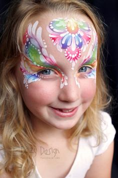 Frilly face painting mask