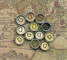 Items similar to One Vintage Typewriter Key - The Letter D on Etsy