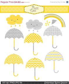 ON SALE Umbrellas clip art  Digital clip art by petittatti on Etsy