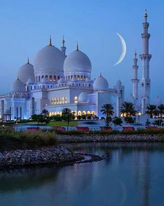 Amazing view by night at Sheikh Zayed Mosque in Abu Dhabi United Arab Emirates. Courtesy of Amazing view by night at Sheikh Zayed Mosque in Abu Dhabi United Arab Emirates. Courtesy of . Abu Dhabi, Beautiful Mosques, Beautiful Buildings, Wonderful Places, Beautiful Places, Beautiful Life, Amazing Places, Beautiful Sunrise, Places To Travel