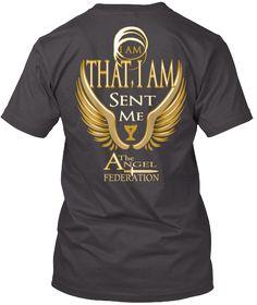 I Am That, I Am Sent Me A The Ngel Federation Heathered Charcoal  T-Shirt Back