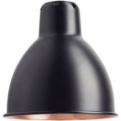 La Lampe Gras - DCW SHA205 Lamp Shade - Black Copper ($92) ❤ liked on Polyvore featuring home, lighting, copper, black shades, copper lamp, black lamp, black lights and copper light shade