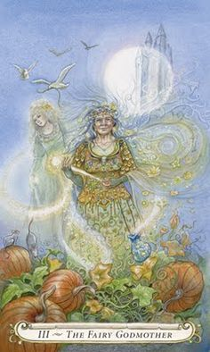 from Lisa Hunt's Fairy Tale Tarot (xlnt collection of tales, fairy tale art & wonderful deck too)