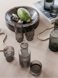 Ripple Glass - Set of 4 - Smoked Grey