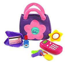 Kidoozie My First Purse PackageQuantity: 1 Style: Pink, Model: G02350, Toys & Play. Fun and educational. Performance and quality tested. Great fun for children of all ages. Let's play pretend. Cute purple bag with big bright pink flower.