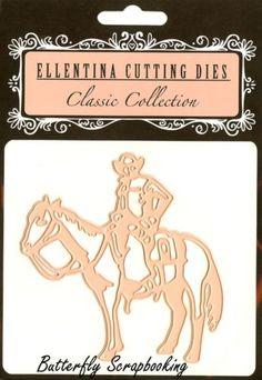WESTERN-COWBOY-HORSE-Die-Ellentina-Craft-Cutting-Dies-Tessler-Crafts-DCN099-New