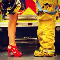 Save the date firefighter style