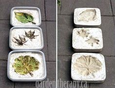 How to make concrete garden projects like concrete planters and stepping stones. Test projects from the book, Concrete Garden Projects.