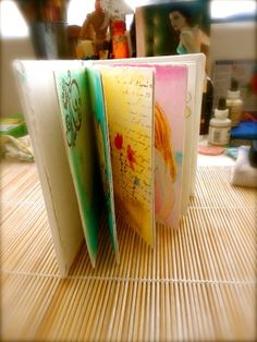 Journal book how to out of toilet rolls & water color paper - no sew!