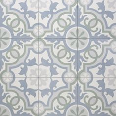 Pool Bath Floor: Sabine Hill Sevilla pattern cement tile