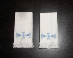 Natalia's Fine Needlework: Tutorial: Towel with Simple Needlepoint. Part 1.